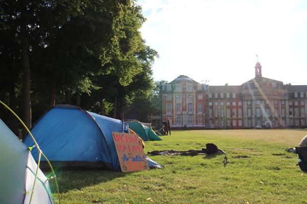 Protestcamp: Studierende setzen Zeichen für bezahlbaren Wohnraum