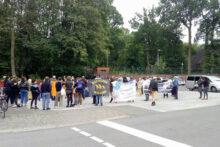 Protest gegen gewaltsamen Abschiebeversuch aus der ZUE Münster