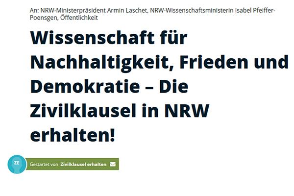 Demo in Düsseldorf: Nein zum Hochschulgesetz, Zivilklausel erhalten!