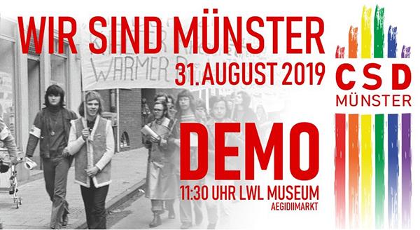 Es wird wieder queer in Münster: CSDemo und Ständefest