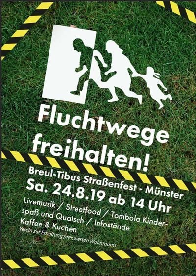 """Breul-Tibus-Straßenfest: """"Fluchtwege freihalten!"""""""