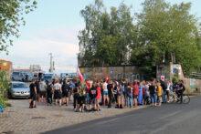 """Soli-Kundgebung nach Räumung der """"Zentrale Münster"""""""
