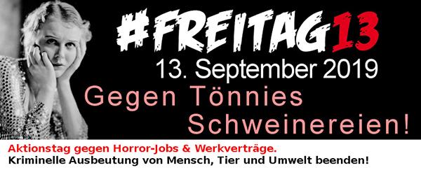 """""""#Freitag13: Das System Tönnies stoppen!"""""""