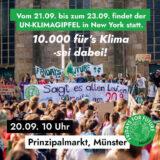 """""""…denn die Zeit rennt uns davon…"""": Am 20. September Großdemonstration """"10.000 fürs Klima"""" in Münster"""