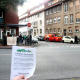 Mahnwache zum Tag der Deutschen Einheit vor dem AfD-Büro im Südviertel Münster
